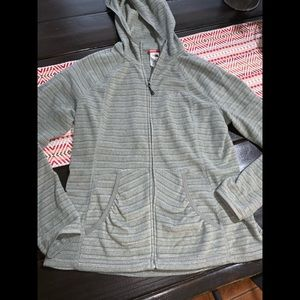 The north face zip up sweater size large